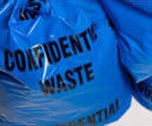 Blue Confidential Waste Bag